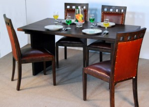 Sena Set Lether Teak Furniture
