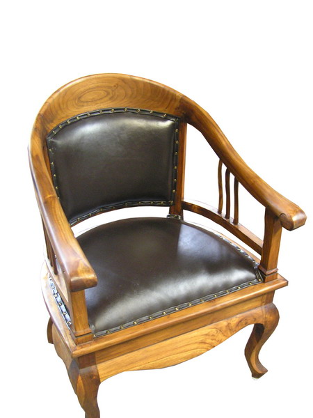 Lenong Chair Black Leather