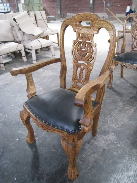 Demang Chair Black Leather